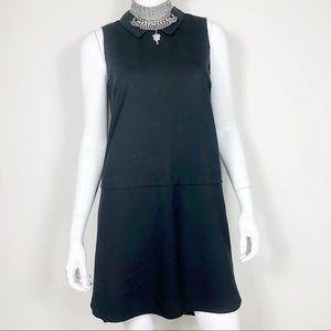 Y1-9: Madewell black sleeveless Collared dress sm